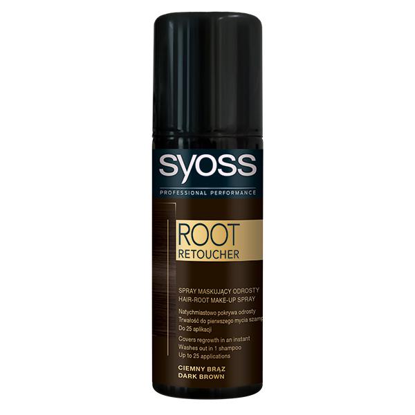 Vopsea de par SYOSS Root Retoucher, Dark Brown, 120ml