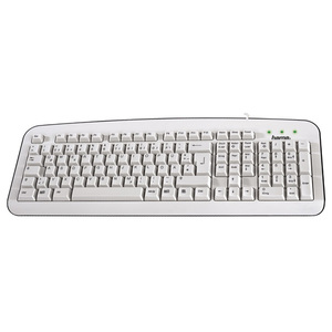 Tastatura cu fir HAMA K210, USB, alb