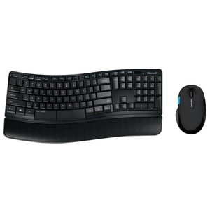 Kit tastatura si mouse Wireless MICROSOFT Sculpt Comfort Desktop, USB, Layout US, negru