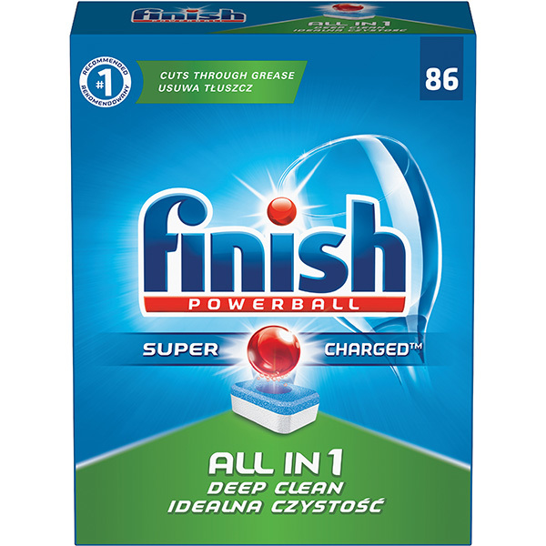 Detergent vase FINISH All in One 86 tablete pentru masina de spalat vase