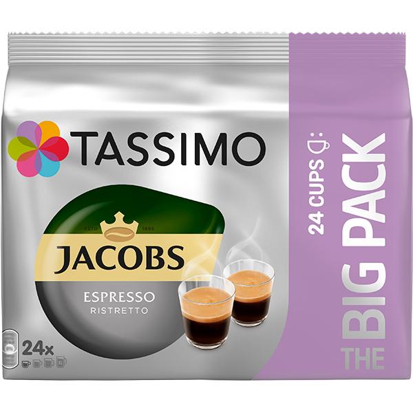 TASSIMO Jacobs Espresso Ristretto, 24 capsule, 192g