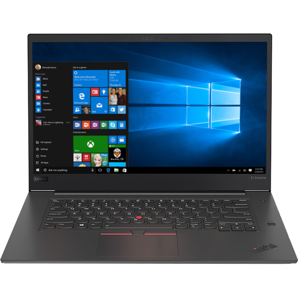 "Laptop LENOVO ThinkPad X1 Extreme, Intel® Core™ i7-8750H pana la 4.1GHz, 15.6"" HDR 4K Touch, 32GB, SSD 1TB, NVIDIA GeForce GTX 1050 Ti 4GB, Windows 10 Pro"