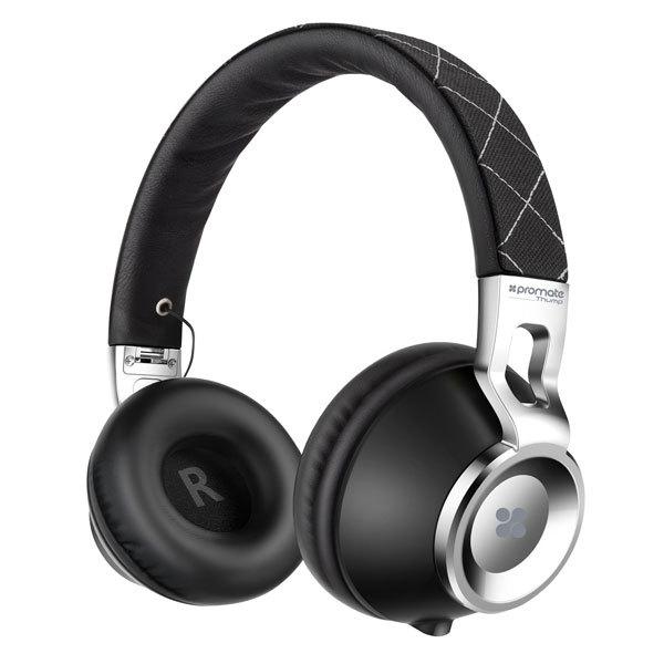 Casti PROMATE Thump, Cu Fir, On-Ear, Microfon, negru