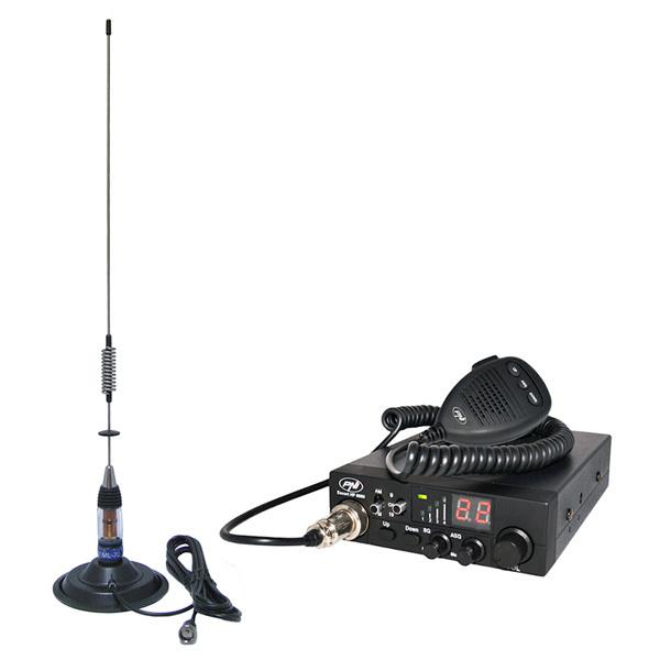 Kit Statie radio CB PNI ESCORT HP 8000 ASQ + Antena CB PNI ML70