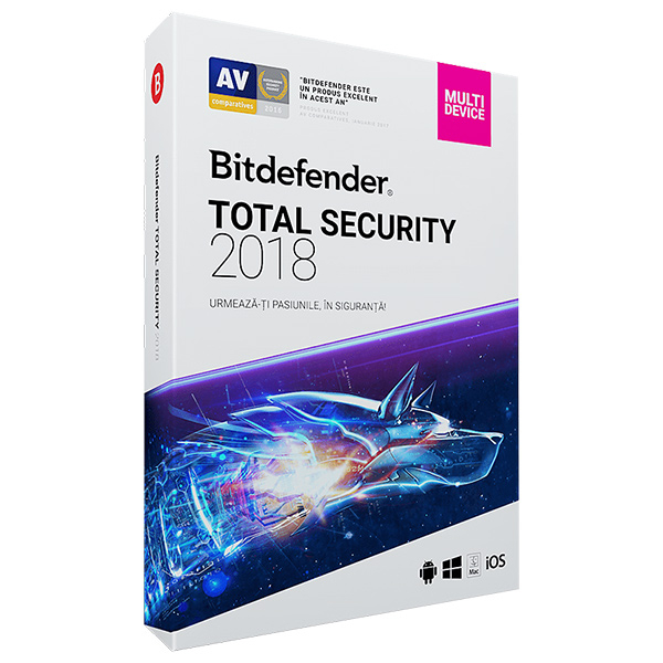 Antivirus BITDEFENDER Total Security Multi-Device 2018, 1 an, 5 dispozitive, Retail