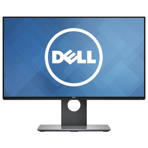 "Monitor LED IPS DELL U2417H, 23.8"", Full HD, argintiu-negru"