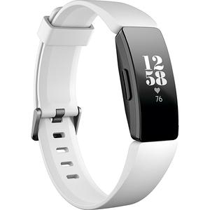 Bratara Fitness FITBIT Inspire HR FB413BKWT, Android/iOS, silicon, Alb-Negru