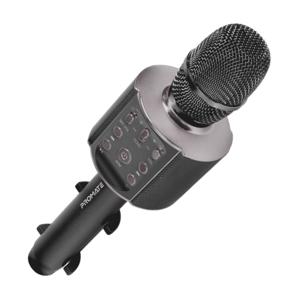 Microfon pentru Karaoke PROMATE VocalMic-4, Bluetooth, Acumulator, negru