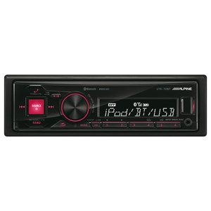 Radio USB auto ALPINE UTE-72BT, 4x50W, Bluetooth, iluminare rosu