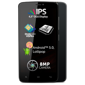 "Telefon ALLVIEW V1 Viper E, 4.5"", 8MP, 8GB, 1GB RAM, Quad Core, Black"