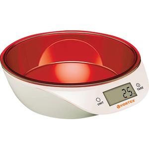Cantar de bucatarie VORTEX VO4014RD, 5kg, rosu