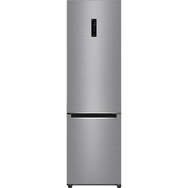 Combina frigorifica LG GBB72PZDZN, No Frost, 384 l, H 203 cm, Clasa A++, Smart Diagnosis, Wi-Fi, argintiu