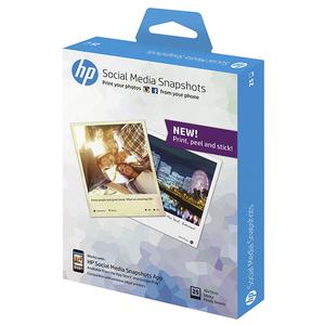 Hartie foto adeziva HP Social Media Snapshots W2G60A, 10 x 13 cm, 25 coli