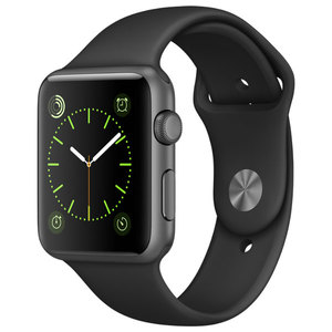 APPLE Watch Sport 42mm Space Grey Aluminum Case, Black Sport Band