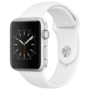 APPLE Watch Series 1 Sport 42mm Silver Aluminum Case, White Sport Band