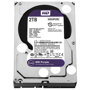 Hard Disk desktop WESTERN DIGITAL Purple, 2TB, Surveillance, SATA3, 64MB, WD20PURZ