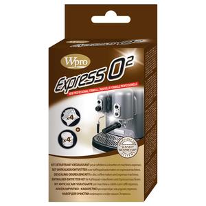 Kit anticalcar-degresant pentru espressoare WPRO 01196: 4 x pastile degresante + 4 plicuri anticalcar