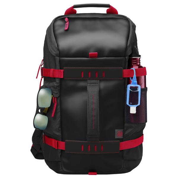"""Rucsac laptop HP Odyssey X0R83AA, 15.6"""", negru-rosu"""