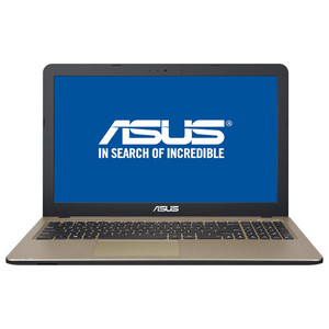 "Laptop ASUS X540UB-DM718, Intel Core i3-7020U 2.3GHz, 15.6"" Full HD, 4GB, SSD 256GB, NVIDIA GeForce MX110 2GB, Endless, Chocolate Black"