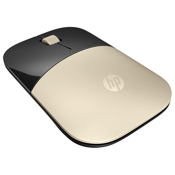 Mouse Wireless HP Z3700, 1200 dpi, negru-gold
