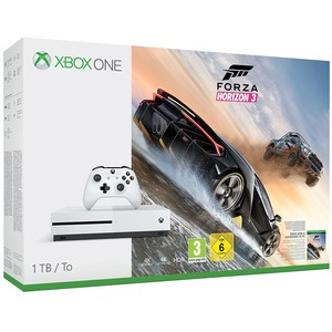 Consola MICROSOFT Xbox One S 1TB, alb + joc Forza Horizon 3 (cod download)