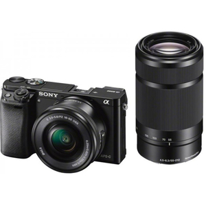 Camera foto digitala mirrorless SONY Alpha A6000, Kit - Obiective Sony SELP1650, 16-50mm + SEL55210 55-210mm