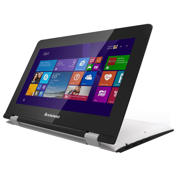 "Laptop 2 in 1 LENOVO Yoga 300, Intel® Celeron® N2840 pana la 2.58Ghz, 11.6"" HD, 2GB, 500GB, Intel® HD Graphics, Windows 8.1, White"
