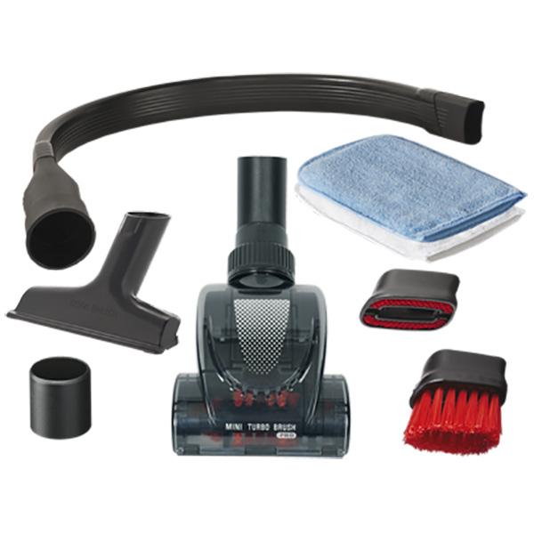 Kit ROWENTA ZR001110: 1 perie mini-turbo + 1perie flexibila + 1 perie pentru canapea + 2 manusi de praf + 2 inele universale adaptabile